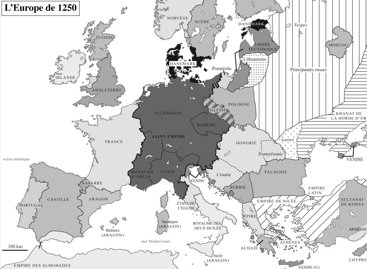 Carte Europe Latine.Politique Religion Et Constructions Etatiques Xie Xvie